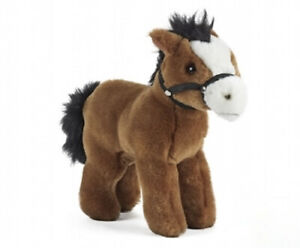 LIVING NATURE HORSE WITH BRIDLE PLUSH SOFT TOY 20CM STUFFED ANIMAL