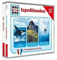 WAS IST WAS-EXPEDITIONSBOX (ORCAS POLARMEERE/VERSUNKENE STÄDTE/+) 3 CD NEU
