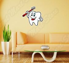 "Dentist Teeth Tooth Toothbrush Jaw Wall Sticker Room Interior Decor 22""X22"""