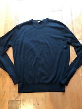 Colombo black 1-2 ply cashmere silk crew 36/46 unisex