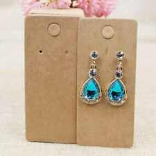 Earrings Display 20 Pcs Kraft Card Package with Clear Cello Bag (A)