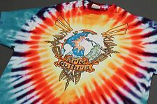 L * Nos vtg 80s 1986 Arlo Guthrie tie dye Folk t shirt * 90.10