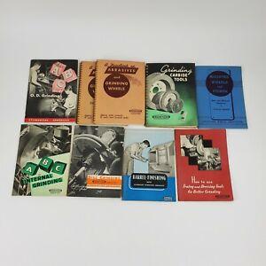 Vintage Norton Company Grinding Handbooks Lot 1940s and 50s Paperback