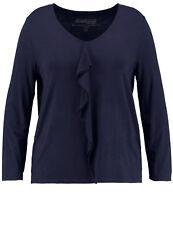 Samoon Shirt by Gerry Weber V-Ausschnitt + Volant dunkel-blau Marine Damen Gr.48