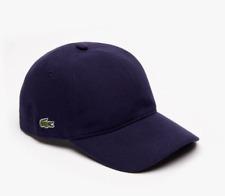 New in Bag Lacoste Men's Cotton Piqué Navy Blue Cap Hat One Size RK0123-51-166