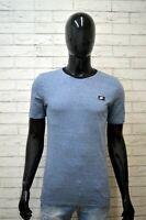 Maglia Blu Uomo NIKE Taglia S  Maglietta Manica Corta Slim Shirt Men Herrenhemd