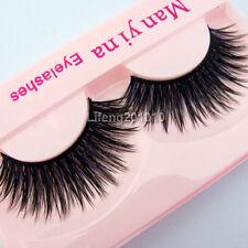 5 Pairs Makeup Thick Long Purple False Eyelashes Soft Fake Eye Lash Tool F33
