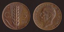 """5 CENTESIMI 1919 SPIGA - VITTORIO EMANUELE III """"ALTA CONSERVAZIONE"""""""