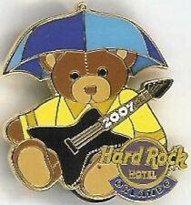 Hard Rock Hotel ORLANDO 2007 TEDDY BEAR Series PIN #4/12 APRIL Showers Umbrella