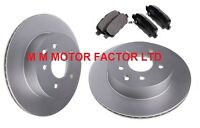 NISSAN X-TRAIL 2.0 2.2 DCi DTi Di 2.5 T30 (01-07) REAR BRAKE DISCS AND PADS SET