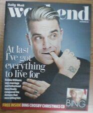 Robbie Williams - Daily Mail Weekend magazine – 16 November 2013