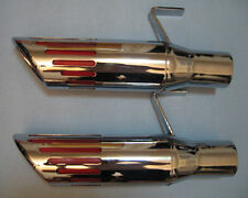 """1971-74 Roadrunner Charger 2.5""""inch Stainless slotted tips"""