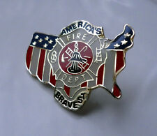 ZP329 US Fire Department Lapel Pin BadgeAmerics Bravest Emergency Services