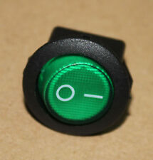 New 12V Green Lighted Round Rocker Toggle Switch Car Truck RV Boat ATV Home fu