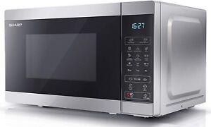 Sharp YC-MG02U-S 800W Digital Touch Control Microwave 1000W Grill, 20 L Capacity