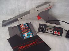 Super Mario Bros Duck Hunt NES Nintendo Game w/ Original NES Controller + Zapper
