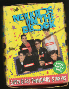 VINTAGE TOPPS NEW KIDS ON THE BLOCK TRADING CARD BOX DONNIE WAHLBERG 36 SEALEDPK