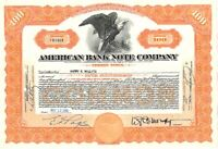 American Bank Note Company - Stock Certificate