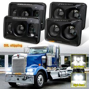 "4x6"" Led Headlights 2pc High Beam&2pc Low Beam for Kenworth W900 1981-2021 Truck"