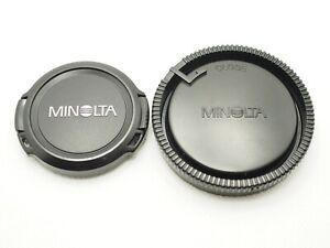 Minolta Genuine Front Lens Cap Alpha AF LF-1049 49mm Rear Lens Cap LR-1000 1pair