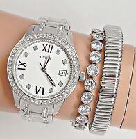 Guess Uhr Damenuhr W0848l1 Waverly Edelstahl IP Silber neu