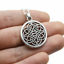 viking slavic Celtic Witches Knot Pendant Compass Runic Nordic silver Necklace
