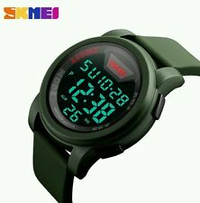 Hot Sale Men Women Military Sports Digital Waterproof Wrist Watch 2017 Green