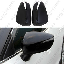 2x Black Outer Rearview Door Side Mirror Cover Cup Trim For Mazda CX-3 CX3 16-17