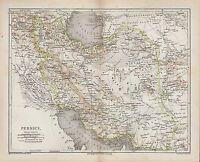 Landkarte map 1877: PERSIEN. Kaspisches Meer Afghanistan Hindukusch Belutschista
