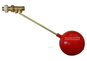 """1/2"""" Part 1 Ball-cock / Float Valve With Float BS1212/1 Brass High Pressure"""