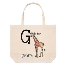 LETTERE G è per Giraffa Grande borsa con manico da Spiaggia - Alfabeto animale