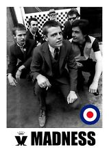 Madness 9 English SKA Band Graham Suggs McPherson Dikron Tulane Retro Poster