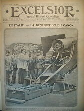 WW1 N° 1834 ITALIE BENEDICTION CANON CHAMPAGNE GUERRE SOUTERRAINE EXCELSIOR 1915