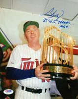 TOM KELLY SIGNED AUTOGRAPHED 8x10 PHOTO + 87 WS CHAMPS MGR TWINS PSA/DNA
