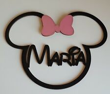 Kids room decor Disney name LARGE wall plaque | Baby new born gift