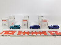 CK928-0,5# 3x Wiking H0/1:87 PKW Volkswagen/VW Golf GL: 051 01 + 051 02, TOP+OVP