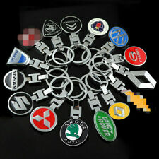 Double Side Car Key Chain Rings Car Keychain Ring Metal Keyring for All Car Logo
