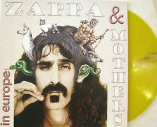"""FRANK ZAPPA & MOTHERS """"IN EUROPE"""" lp limited edition yellow vinyl unplayed"""