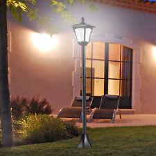solar Gartenlaterne mit LED Laterne Wegleuchte 40 Lumen H160cm schwarz