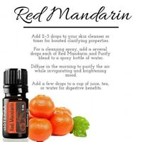 doTERRA Red Mandarin 5ml Therapeutic Grade Pure Essential Oil Aromatherapy