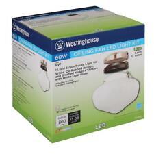 Westinghouse 1-Light LED Schoolhouse Ceiling Fan Light Kit 7785200