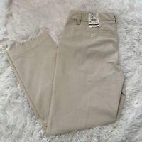 GH Bass & Co Womens SIze 6 White & Brown Stripe Stretch Capri Pants NWT $62