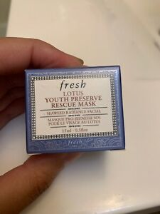 Fresh Lotus Rescue Mask Seaweed Facial Youth Preserve Cream 1.5mL / 0.5 fl oz