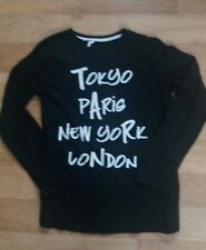 Boys Black Long Sleeve Top Age 11-12 Years