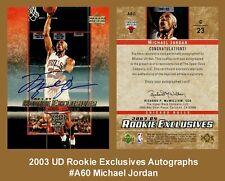 Lot of 25 2003 UD Rookie Exclusives Autographs #A60 Michael Jordan AUTO REPRINT