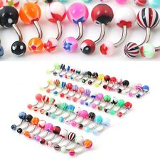 10pcs Body Piercing Jewellery Rings Makeup  Belly Button Navel Ring Bar Bars