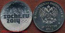 Rusia Russia 25 rublos 2011 olimpia Sochi 2014 montañas Mountains banco recién ++++