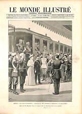 Coronation Nicholas II Tsar Alexandra Feodorovna Tsaritsa Romanov Russia 1896 B