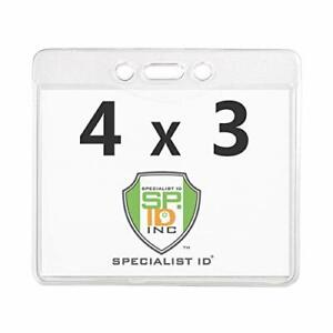 5 Pack - Vaccination Record Holder 4 x 3 - Clear Vinyl CDC ID Card Protectors