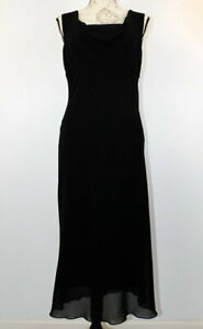 Studio Y Women's Black Dress Sleeveless Long Made in USA Size 9 / 10